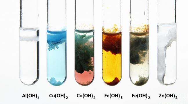Màu kết tủa của hidroxit thường gặp